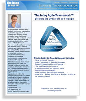 The Inteq Agile/Framework™ Breaking the Myth of the Iron Triangle