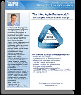 The Inteq Agile/Framework™ Breaking the Myth of the Iron Triangle