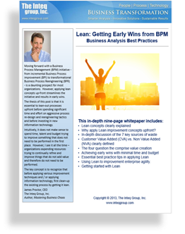 BPM and Lean Inteq Whitepaper