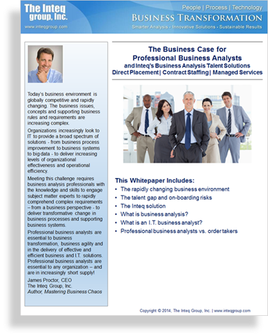 The Business Case for Professional Business Analysts